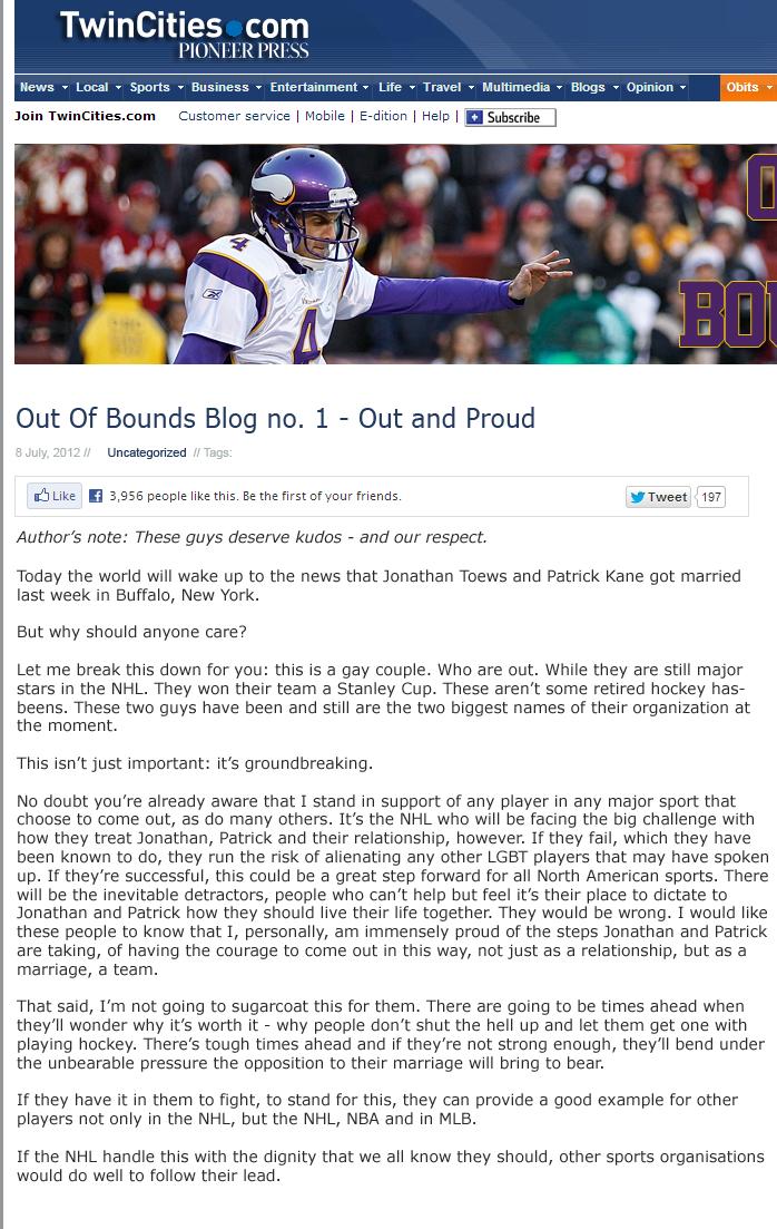 Chris Kluwe Blog Screencap